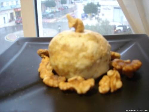 Receta: Bola de queso cubierta de nueces por Vatrex
