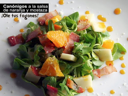 Canónigos a la Salsa de Naranja y Mostaza por Juanjo84