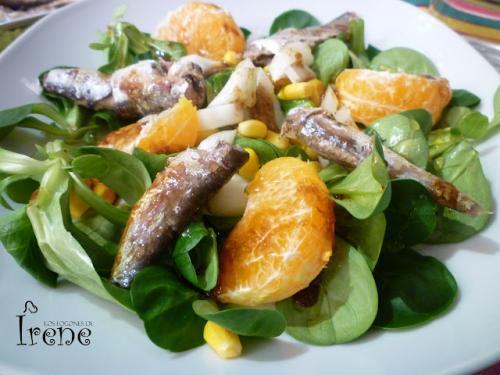 Ensalada de Sardinas y Mandarina por Ire001