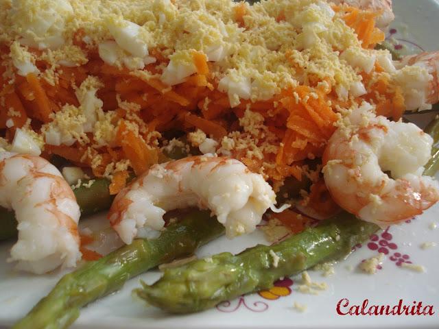 Receta: Ensalada de Esparragos Trigueros por Calandrita