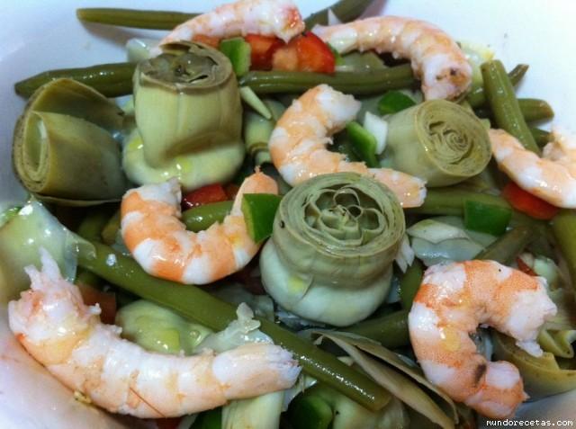 Alcachofas y Judías verdes en Vinagreta por Kiraymaggie