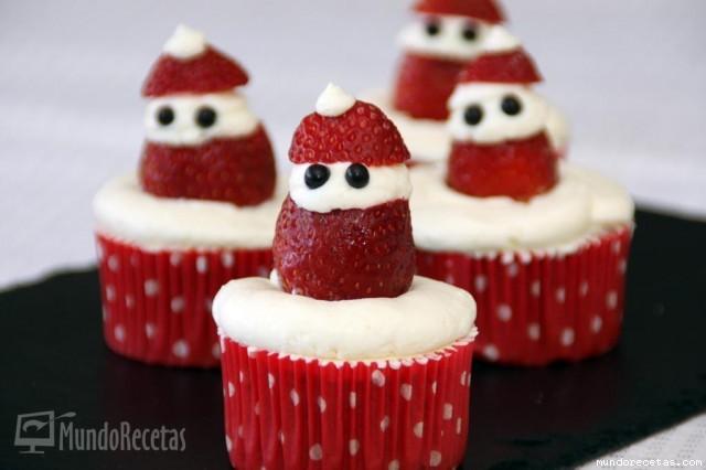 Cupcakes de Fresa con Cobertura de Mascarpone por Vicky