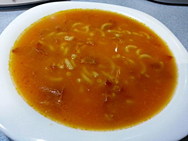 Deberes Ollas programables Sopa de Zanahorias con Fideos y Jamón