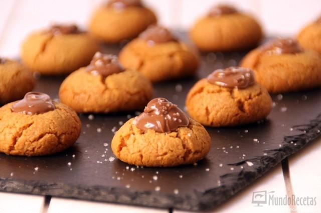 Galletas de Mantequilla de Cacahuete y Nutella por Vicky