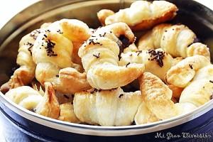Mini Croissants Rellenos de Chocolate por Mi Gran Diversión