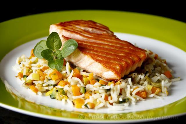 Recetas con plancha mundorecetas - Arroz con pescado y verduras ...