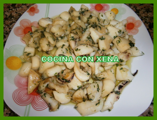 Sepia en Salsa Verde con Thermomix por Xena