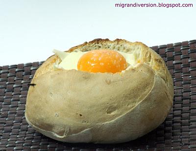 Pan Relleno de Carne y Cúpula de Huevo por Mi Gran Diversión