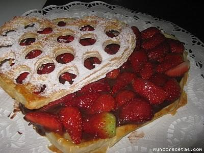 Tarta Corazón de Fresa para San Valentín por MaryLou