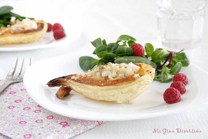 Tarta de Hojaldre de Pera, Gorgonzola y Nueces por MiGranDiversión