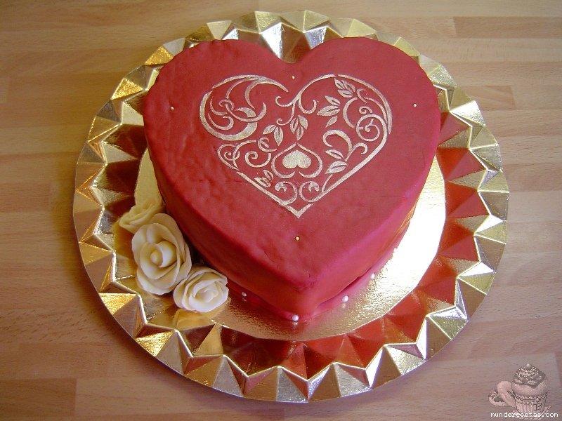 Tarta para San Valentín por Marisalas