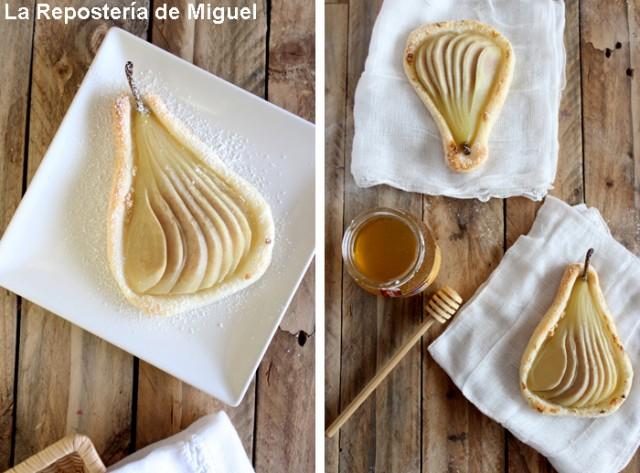 Tartaletas de Peras a la Vainilla con Mazapan y Miel  por La Repostería de Miguel
