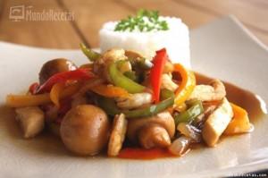 Wok de Pollo, Gambas y Verduras por Juanpe