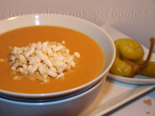 Crema de Lechuga y Zanahoria con Arroz Inflado por Gijonesa