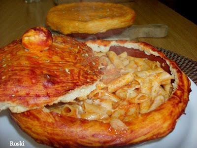 Macarrones con at n al horno con masa de pizzetas por - Macarrones con verduras al horno ...