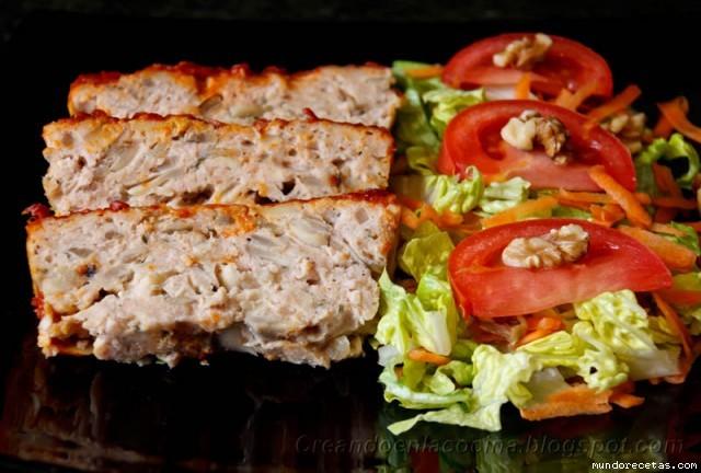 Pastel de Pavo con Salsa de Tomate y Mostaza por Tuxa