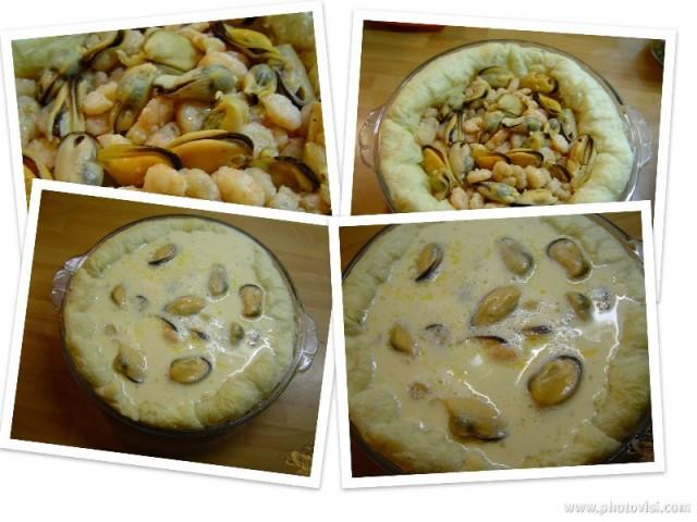 Quiche de Gambas y Mejillones por Marisalas