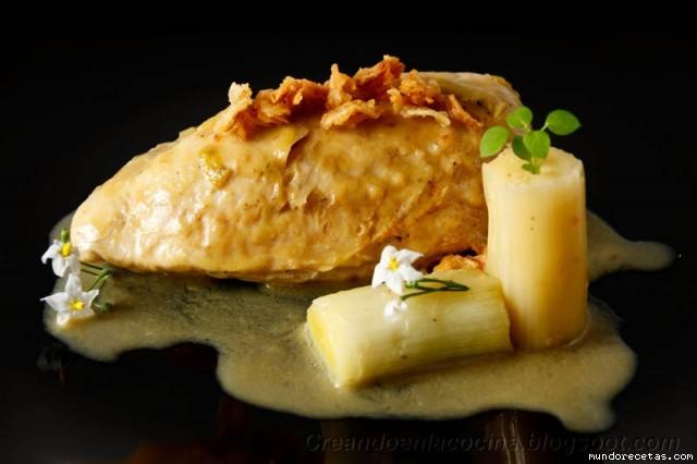 Supremas de Pollo con Salsa de Puerros y Cebolla por Tuxa