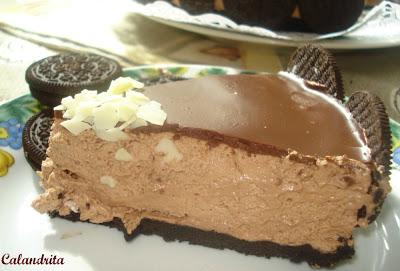 Tarta Mousse de Nutella y Oreo por Calandrita