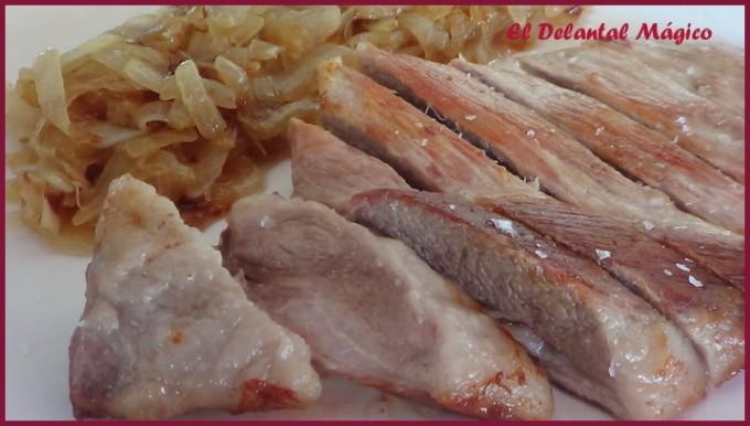 Secreto de cerdo con cebolla por Ampaaro