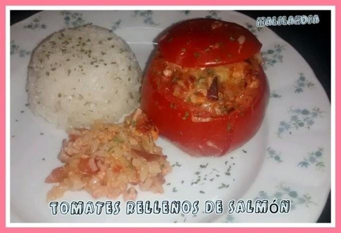 Tomates Rellenos de Salmón por Malilandia. Éxito seguro.