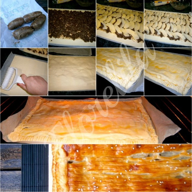 Empanada de morcilla y manzana por Florelila