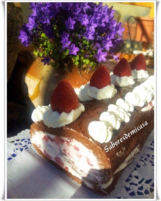 Brazo de fresas, nata y nueces por Lauma