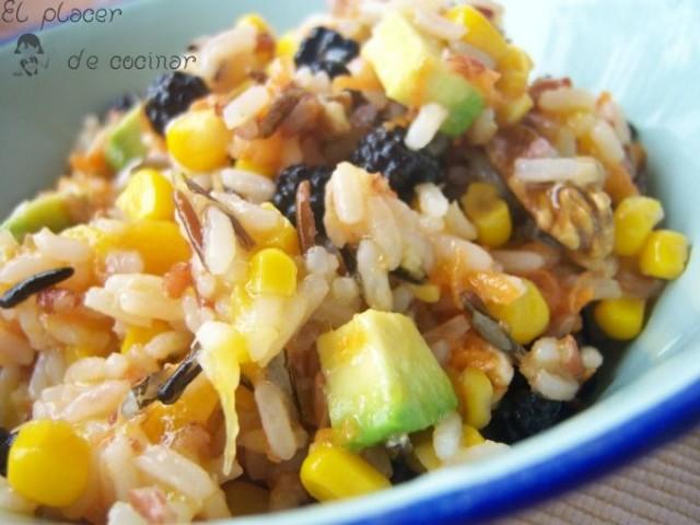 Ensalada colorida de arroz por Krismar