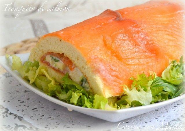 Tronquito salado de salmón por Cocina con Marta. Thermomix.