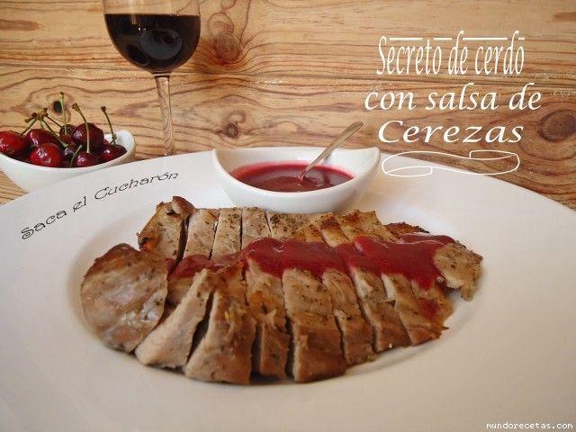 Secreto de cerdo con salsa de cerezas por Sofiapm