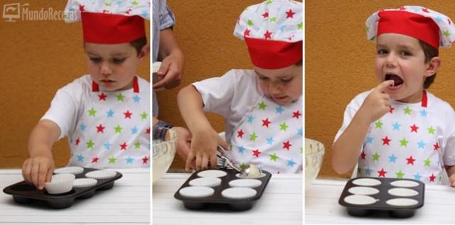 Preparación magdalenas