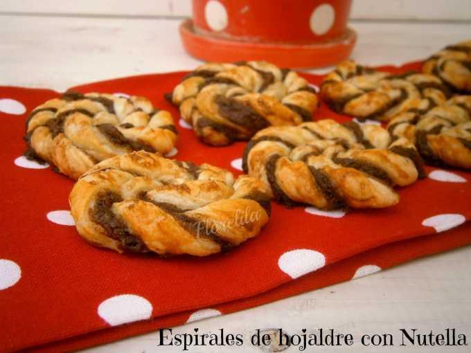 Espirales o caracolas de hojaldre con nutella por Florelila
