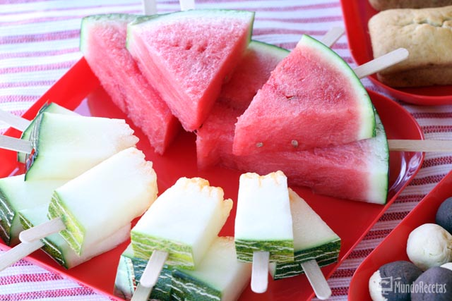 Polos de sandía y melón