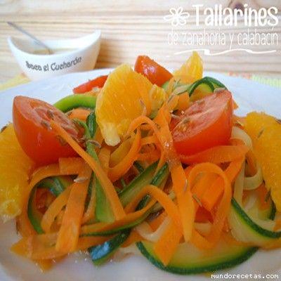 Tallarines de zanahoria y calabacín por Sofiapm