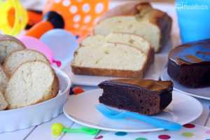 Pastel de chocolate brownie y bizcochos para reponer fuerzas con Tulipán