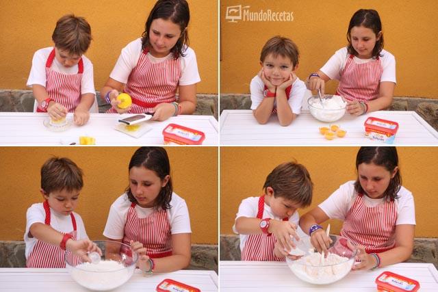 Preparación bizcocho de limón