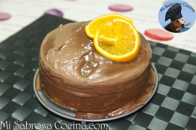 Tarta de naranja y chocolate por Noevive