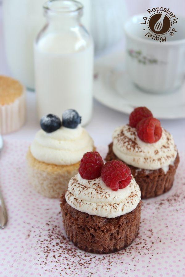 Angel Food Cupcakes por La Repostería de Miguel
