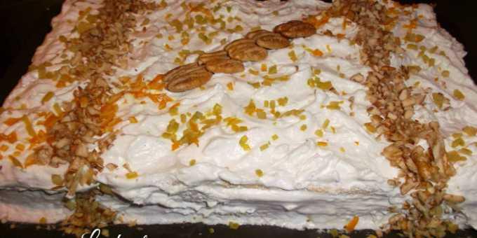 Tarta de merengue al limón con nueces de pecan por Lindanita