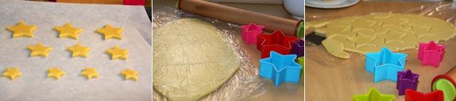 Preparación galletas arbol