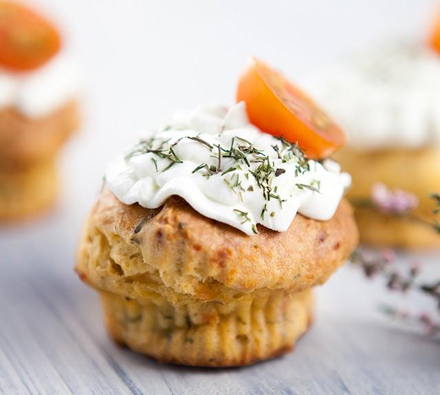 Muffins de tomate y mozzarella con Mycook