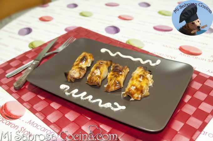 Rollitos de Salmon con queso y cebolla caramelizada por Noevive