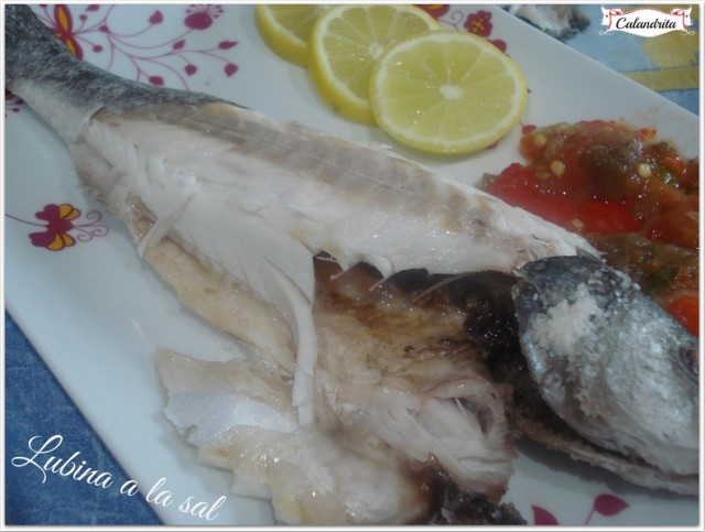Lubina a la sal por calandrita recetas de cocina for Salsa para lubina a la sal