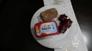 Tarta de crema de chocolate y naranja