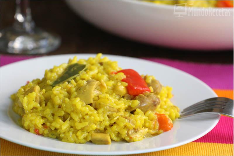 arroz amarillo con pollo thermomix