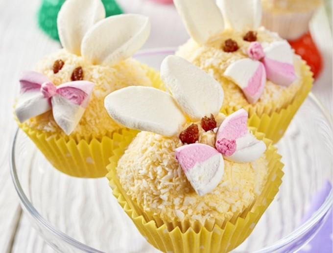 Cupcakes de conejitos de Pascua