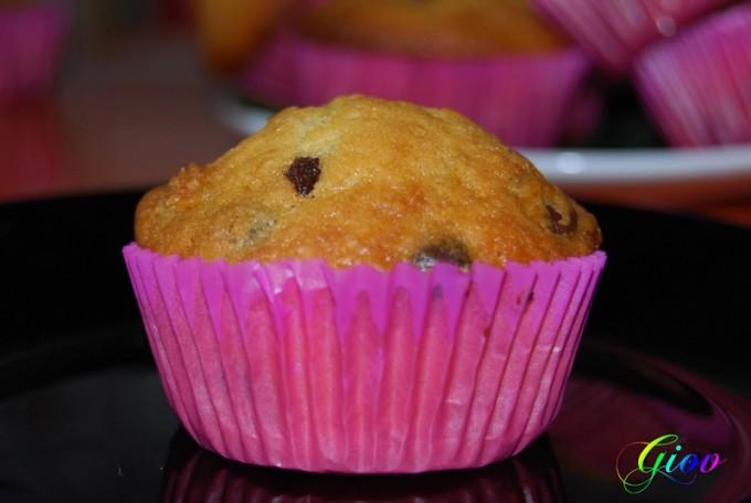 Muffins de chips de chocolate por Giov
