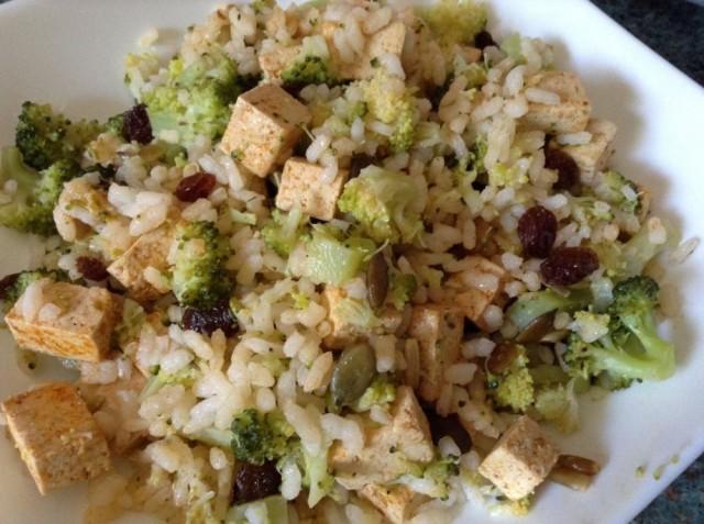 Arroz brocolizado con tofu por Ardid