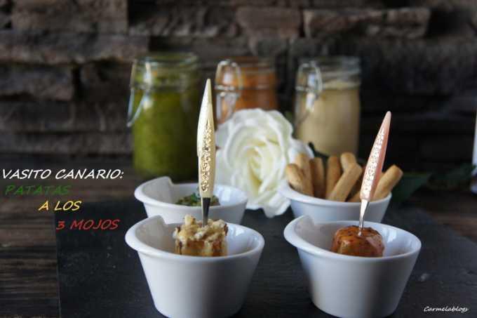 Vasitos canarios: Patatas a los 3 mojos por Sunflower