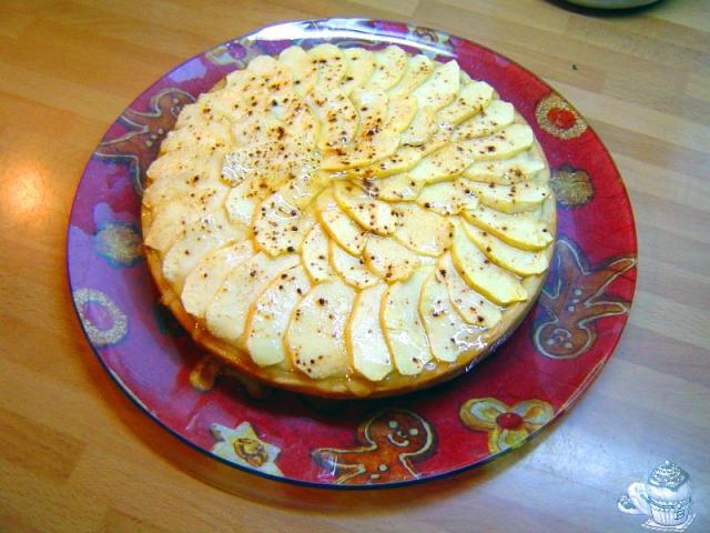 Tarta de manzana con coco por Marisalas
